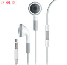 WHITE HEADPHONES EARPHONES WITH MIC + REMOTE FOR IPHONE 3g/3gs/4/4s/