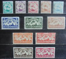 DANZIG 1923 Air Stamps, Complete Set of 12 m/h
