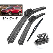 3Pcs Front Rear Windshield Wiper Blades Set For Hyundai Santa Fe CM 2007-2012