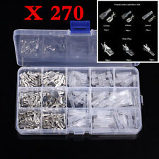 270pc Male & Female Motorcycle Electrical Wire Terminals Crimp Connectors Spades