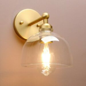 Retro Industrial Style Bowl Clear Glass Wall Lamp Antique Edison Sconce Lighting