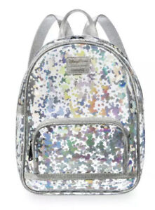 Disney Parks Loungefly Mickey Mouse Magic Mirror Metallic Mini Backpack Bag NEW