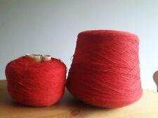 Vintage Retro Red Knitting Yarn on Cone Machine/Hand Knitting