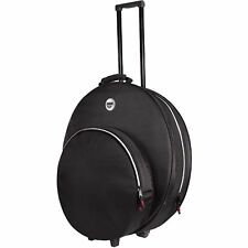 "Sabian SPRO22 Pro 22"" Black Cymbal Bag w/ Hi-Hat Clutch Pocket Wheels & Handle"
