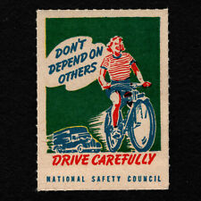 "Opc Vintage National Safety Council Poster Stamp ""Drive Carefully"" Mnh"