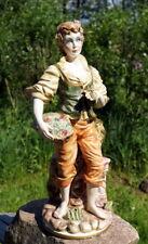 wunderschöne Keramik Figur Italien Capodimonte Handbemalt edel & wertvoll