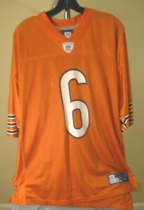 Chicago Bears NFL Reebok Classic Orange Jay Cutler #6 Large Jersey