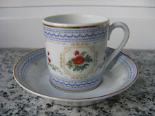 TASSE à MOKA Porcelaine LIMOGES HAVILAND SHAILER'S PROVENCE Bord Bleu et or mat