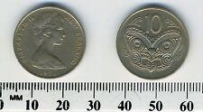 New Zealand 1971 - 10 Cents Copper-Nickel Coin - Maori mask, koruru - #2