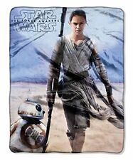 Rey BB-8 Force Awakens Last Jedi Star Wars soft silky touch blanket throw NEW