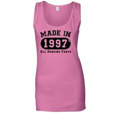 Birthday Ladies Vest Made in 1997 All Genuine Parts Distressed Gift