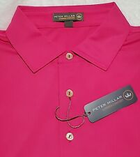 Peter Millar Crown Sport Polo Shirt Mens Medium NWT Pink