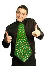 Shamrock Hot Stamp Giant Neeck Tie For St.Patricks  Day And Fancy Dress