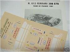 FERRARI 308 TUOR DE FRANCE 1981 1/43 DECALS