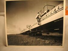 SHELL Chemical  OIL RAILROAD TRAIN CARS HOUSTON TEXAS  OLD PHOTO