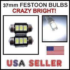 4x White 6418 CANBUS Interior & LED License Plate Lights Bulbs Festoon For BMW
