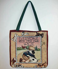 Mary Engelbreit Everyone Needs Their Own Spot ~ Dog Lined Tapestry Tote Bag