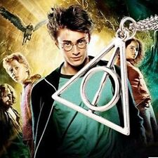 NEW Harry Potter and The Deathly Hallows Triangle Necklace Chain Pendant Jewelry