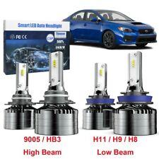 H11 Low Beam 9005 High Beam LED Combo Headlight Bulb For Subaru WRX STI 08 - 20