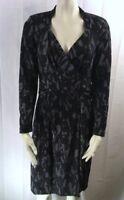 ETCETERA BLACK GRAY SOFT KNIT DRESS GROTTO NWT sizes 2 4 6 8  RETAIL $235