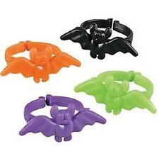 Pack of 48 - Coloured Bat Rings - Halloween Party Bags Batman Fillers