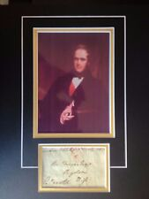 VISCOUNT PALMERSTON -  FORMER PRIME MINISTER - EXCELLENT SIGNED DISPLAY