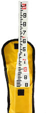 25 Foot Telescopic Fiberglass Survey Grade Rod in Tenths with Carrying Case