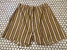 Vtg Nos Men's 100% Cotton Stripes Boxer Shorts Front Fly Sz Large 44