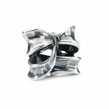 Trollbeads Sterling Silver Genuine Charm Bead Double Bow TAGBE-30134