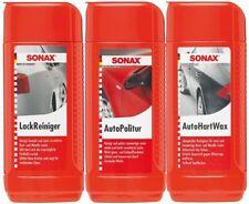 SONAX Außen Lack Pflege Set 3-teilig LackReiniger & AutoPolitur & AutoHartWax