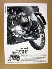 1966 Moto Guzzi 125cc Sport Motorcycle photo vintage print Ad