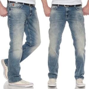 M.O.D Herren Jeans Thomas Comfort mittelblau Alava Blue gerades Bein stonewashed