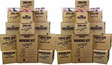 Large Moving Boxes Kit - Heavy Duty Cardboard Boxes / Packing Supplies Shipping