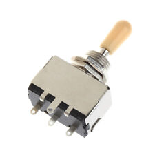 3 Way Closed Toggle Switch Box Style Chrome For Electric Guitar Cream Knob