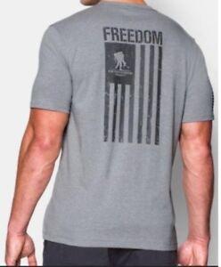 Under Armour * UA Freedom Flag T-shirt Grey for Men