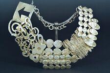 Grand Collier Métal Biche de Bere Brutaliste Bijoux Mode vintage Design Jewelry