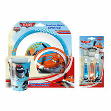 Official Licensed Product Disney Planes 3PC Dinner & Cutlery Set Plate Bowl Fork
