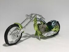 GREEN ENVY CHOPPER IRON MOTORBIKE scale 1:18  diecast model toy bike car