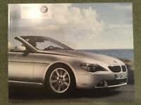 BMW 6 Series Convertible range brochure 2004 in mint condition