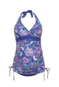 F&F Tropical Halterneck Maternity Tankini Swimsuit 8