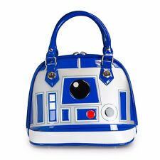 Star Wars R2-D2 Blue/White/Silver Patent Dome Bag Officially Licensed