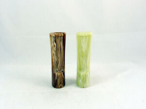 2 NEW ACRYLIC STEM MOUTHPIECE FOR PIPES PIPA PFEIFE MADE IN ITALY
