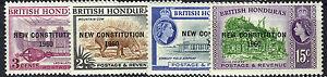 BRITISH HONDURAS 1961 NEW CONSTITUTION PLATE BLOCKS OF 4  MNH
