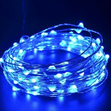 DC 12V Mains Operated 100-LED Blue Starry Twinkling Micro Wire Fairy Lights Xmas