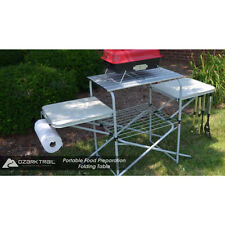 Portable Folding Camping Cooking Table Camp Grill Grilling Outdoor Kitchen Stand