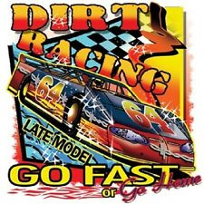 LATE MODEL DIRT TRACK RACING SLEEVELESS T SHIRT