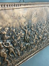 Grunwald 1410 Battle Jan Matejko Antique Copper Wall Hanging Embossed Relief