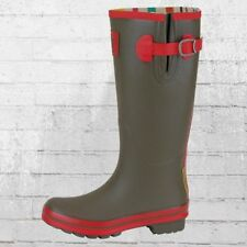 Evercreatures Gummistiefel Army Surplus Tall oliv rot Gummi Stiefel Wellington