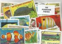 """Lot timbres thematique """" poissons """""""