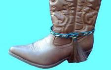 Western Jewelry Horse Hair Boot Bracelet W/Tassel